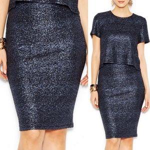 Bar III Black Stretchy Pencil Skirt Size XXL